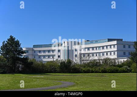 The Midland Hotel, Marine Drive, Morecambe, Lancashire, England, United Kingdom, Europe. - Stock Image