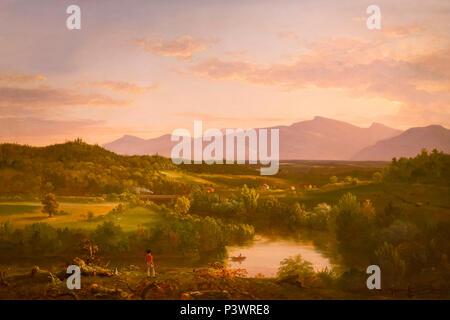 River in the Catskills, Thomas Cole, 1843, Museum of Fine Arts, Boston, Mass, USA, North America - Stock Image