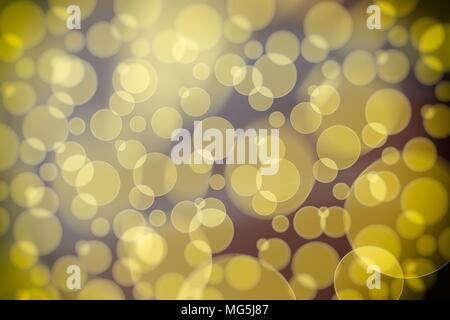 Abstract Yellow Bokeh Background. - Stock Image
