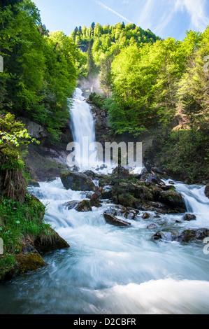 Giessbach waterfalls, Brienz, Switzerland - Stock Image