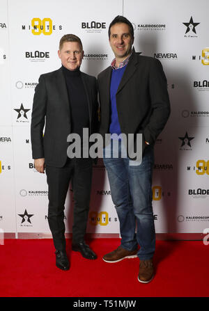 '90 Minutes' Launch Event hosted by executive producer Rio Ferdinand and director Simon Baker to celebrate the digital download and DVD release on 1 April  Featuring: Ian Pearce, Luke Dowling Where: London, United Kingdom When: 19 Mar 2019 Credit: PinPep/WENN.com - Stock Image