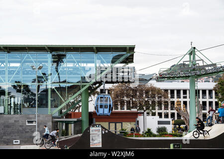 Portugal, Madeira Island, Funchal, cable car station - Stock Image