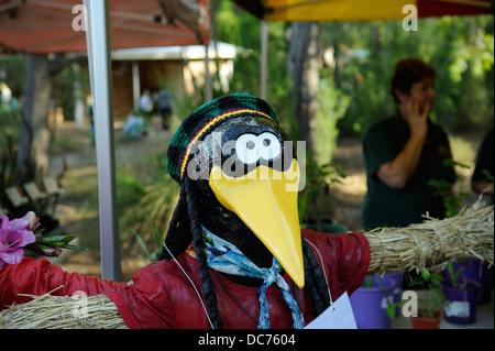 Rastafarian Crow scarecrow - Stock Image