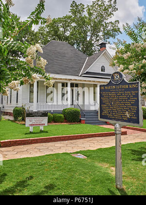 The home or house of Martin Luther King Jr noted civil rights leader in Montgomery Alabama, USA. - Stock Image