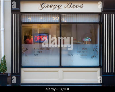 Gregg Bros a small independent café in Bishop Auckland Durham England UK - Stock Image