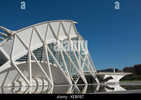 VALENCIA, SPAIN - AUGUST 07: El Museu de les Ciències Príncipe Felipe in the City of Arts and Sciences - Stock Image
