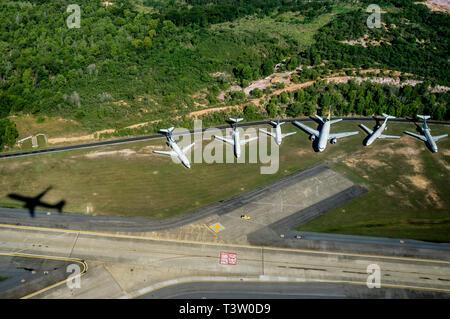 Aircrafts parking area at Rio de Janeiro International airport, Brazil. - Stock Image