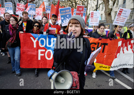 University student rally, 'Youth March for Jobs'. Socialist Party. London 2009. - Stock Image