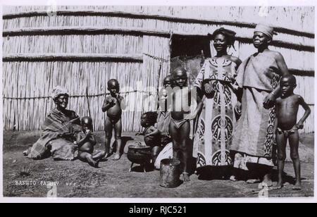 South Africa - Basuto Family - Stock Image
