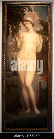 26 János Stein - Nude of young girl on the terrace of the palace - Stock Image