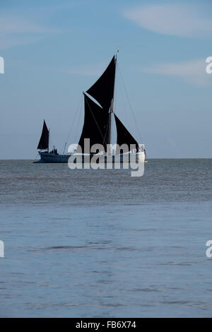 Thames sailing barge from Walton on the naze - Stock Image