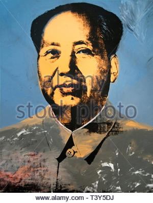 Mao by Andy Warhol 1928 American United States of America USA - Stock Image