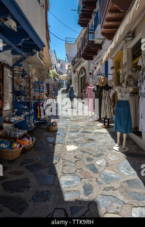 Shops in Skopelos Town, Northern Sporades Greece. - Stock Image