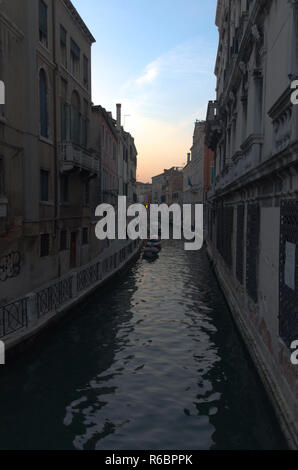 A canal in Venice in the early morning - Stock Image