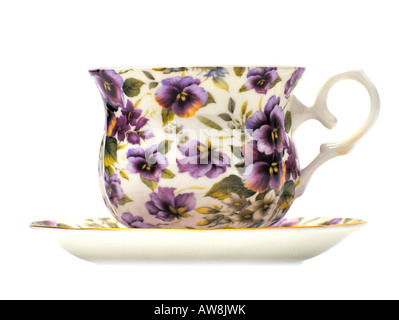 Chintz Design Pattern Pottery Ceramics Tableware Fine Bone China FOR EDITORIAL USE ONLY - Stock Image