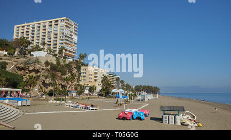 Bajondillo Beach. Torremolinos, Málaga, Spain. - Stock Image