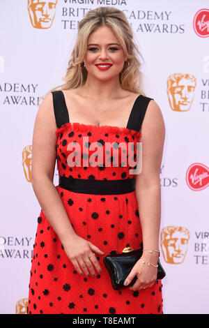 LONDON, UK. May 12, 2019: Emily Attack arriving for the BAFTA TV Awards 2019 at the Royal Festival Hall, London. Picture: Steve Vas/Featureflash - Stock Image