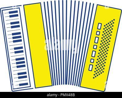 Accordion icon. Thin line design. Vector illustration. - Stock Image