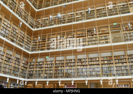 National Library of Greece, new in 2017, at the SNFCC in Athens - Stock Image
