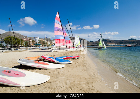 Mallorca, Port Pollenca, Water Sports, Beach - Stock Image