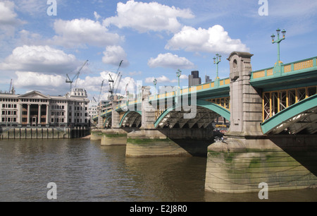 Southwark Bridge London - Stock Image