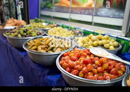 Fresh vegetables on sale in a Thai market. - Stock Image