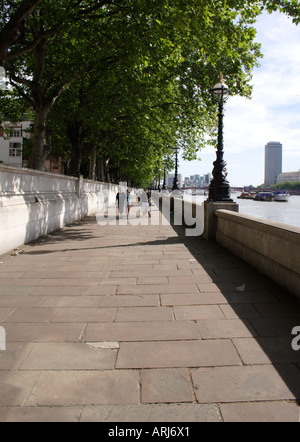 South bank promenade London - Stock Image
