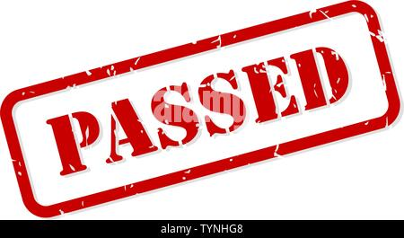 Passed red rubber stamp vector isolated - Stock Image