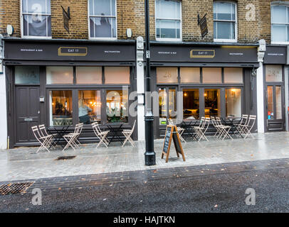 Eat17 restaurant in Walthamstow village, Orford Road, Waltham Forest, London - Stock Image