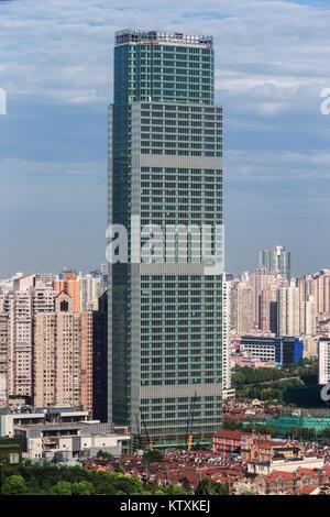 Jingan Tower, Shanghai - Stock Image