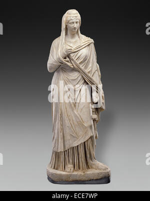Faustina the Elder by  Unknown; Roman Empire; circa 140 - 160; Marble; Object: H:  209 cm (H:  82 5/16 in.) - Stock Image
