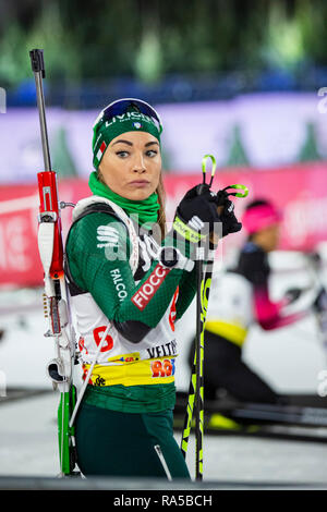 Dorothea Wierer (ITA). JOKA Biathlon World Team Challenge 2018 auf Schalke. - Stock Image