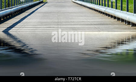 Bridge over a river - National Park on the Elbe - Stock Image