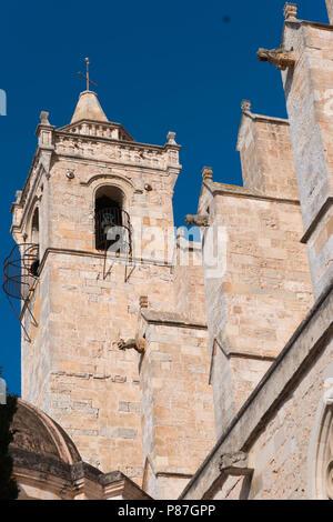 Bell tower of the Cathedral de Santa Maria in Ciutadella, Menorca - Stock Image