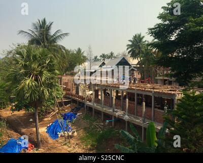Construction of new hotel in Luang Prabang Laos - Stock Image