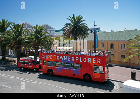 south africa cape town waterfront tourist sightseeing bus - Stock Image