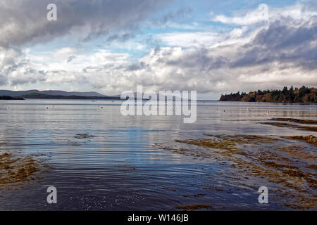 Picturesque Bantry Bay with gathering clouds as stormy weather is coming.County Cork,Ireland. - Stock Image