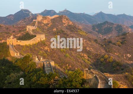 Great Wall, Jinshanling, Beijing, China - Stock Image