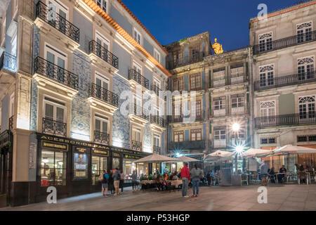 Largo Sao Domingos, Street Cafes, Restaurant Galeria do Largo, Porto, Portugal Porto, Portugal - Stock Image