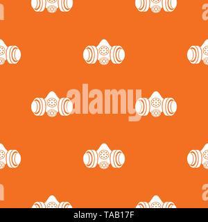 Gas mask pattern vector orange - Stock Image