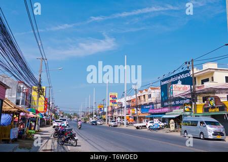 Road 4024, Chalong, Phuket island, Thailand - Stock Image