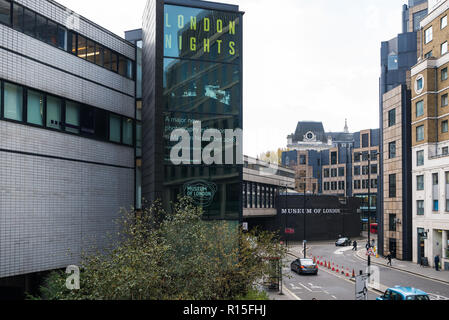 The Museum of London overlooking Adersgate, City of London, England, UK - Stock Image