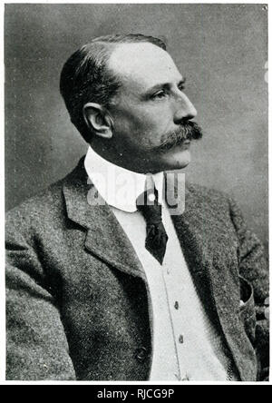 Sir Edward Elgar (1857-1934), English composer at the time of the performance of his oratorio 'The Dream of Gerontius' at the Worcester Music Festival. - Stock Image