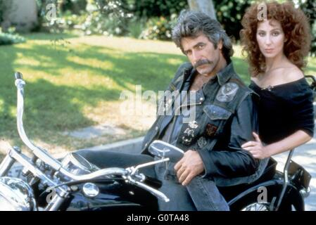 Sam Elliott and Cher / Mask / 1985 directed by Peter Bogdanovich (Universal Pictures) - Stock Image