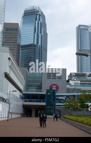 View of IFC building from the harbour front - Stock Image