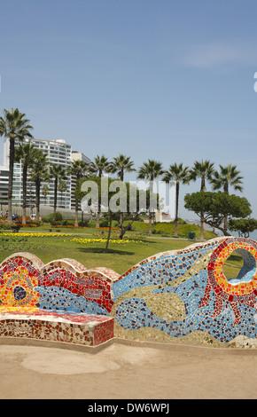 Parque del Amor (Love Park),  Lima, Peru - Stock Image
