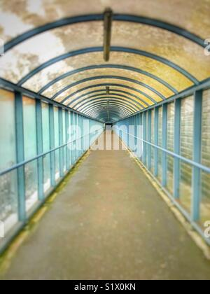 View along Padestrian walkway - Stock Image