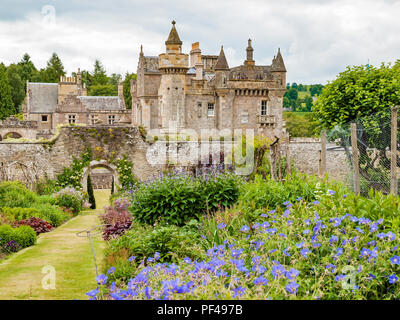 Sir Walter Scott's home Abbotsford Melrose Scotland seen from the walled garden - Stock Image