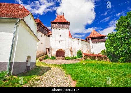 Viscri Church, Transylvania. Fortified saxon church in Romania, heritage destination of Europe. - Stock Image
