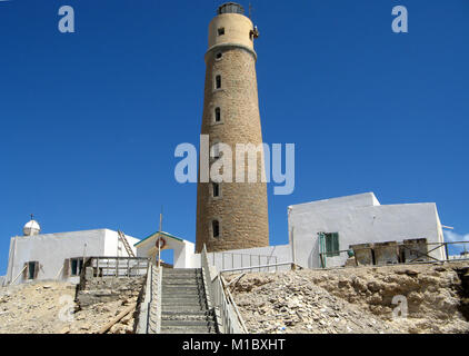 Lighthouse of Big Brother, Brother Islands, Red Sea, Egypt - Stock Image